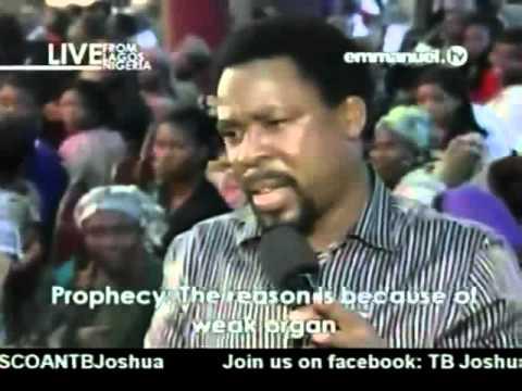 TB Joshua. Prayer & Prophecy 13-08-2012
