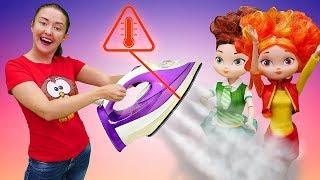Игрушки для детей Сказочный Патруль. Веселая школа: куклы учатся стирать!