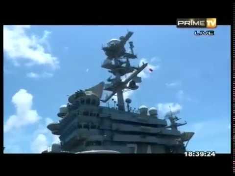 ITN visits USS John C. Stennis