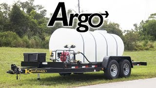 The Argo Water Tank Trailer | With Honda Engine and Pump