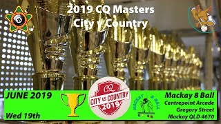 2019 CQ City v Country - Masters Teams - Eight Ball - Cue Sports TV