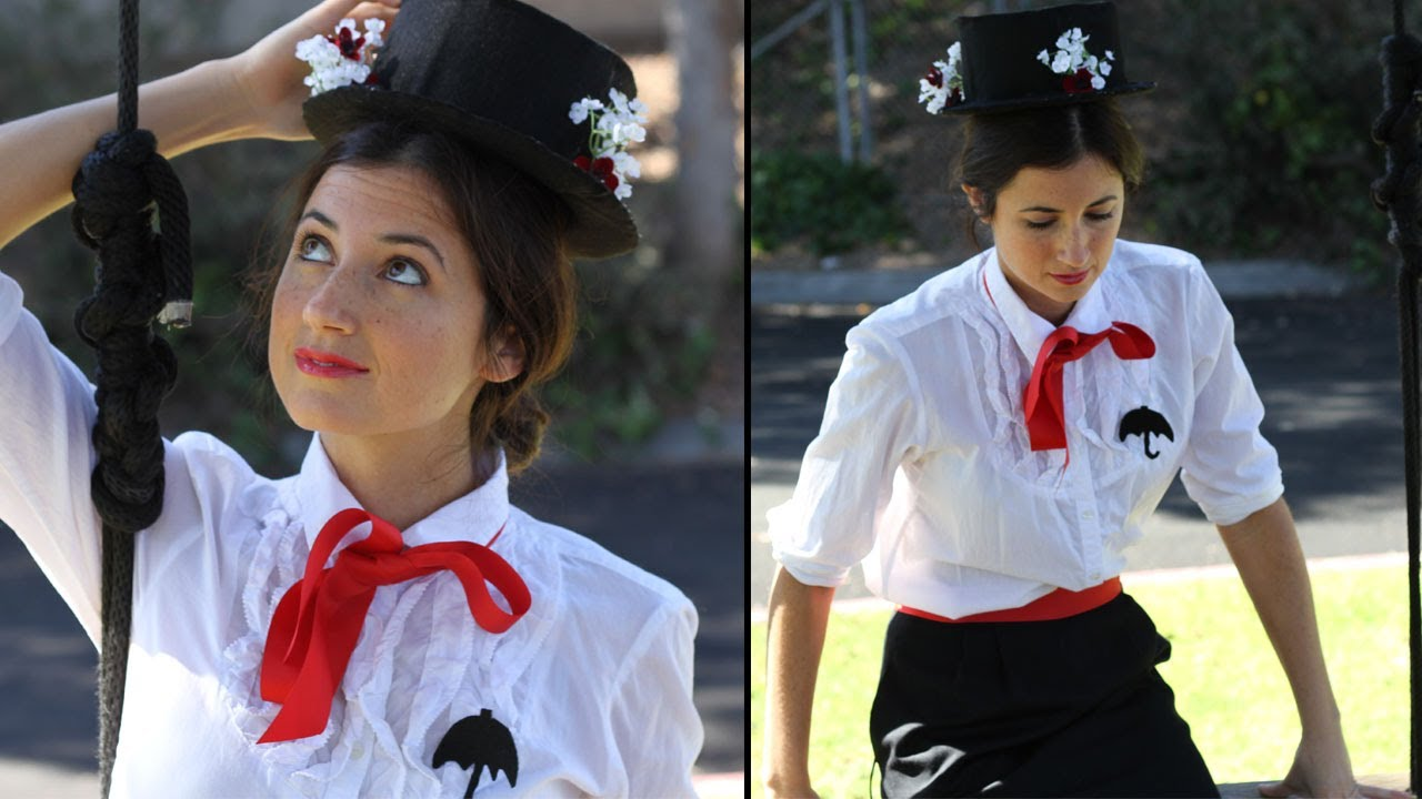 Diy mary poppins costume youtube solutioingenieria
