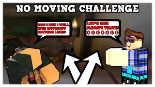 NO MOVING CHALLENGE (ROBLOX ASSASSIN - WHO NEEDS LEGS?) *BROKE MY LEGS IN ASSASSIN!*
