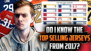 Can I Name the Top Selling NHL Jerseys From the 2016-17 Season?