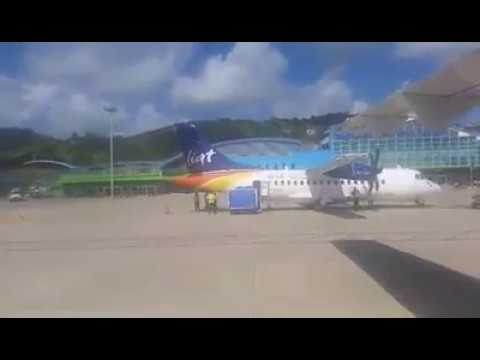 LIAT ATR72-600 Landing @ Runway 04 Argyle International Airport