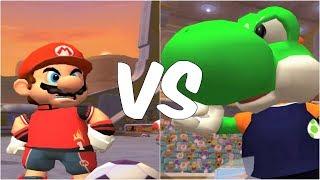 Super Mario Strikers - Mario vs Yoshi - GameCube Gameplay (720p60fps)