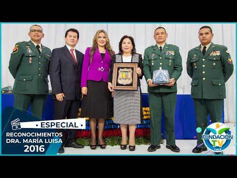 Reconocimientos a la   Dra. María Luisa Piraquive - 2016