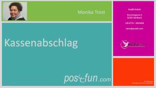 Kassenabschlag mit automatischer Datensicherung mit der PosBill Kassensoftware