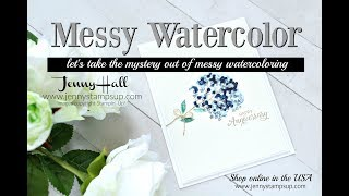 Messy Watercolor Rescue Session! using Stampin Up products with Jenny Hall