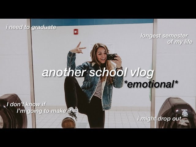 its another school vlog *emotional*