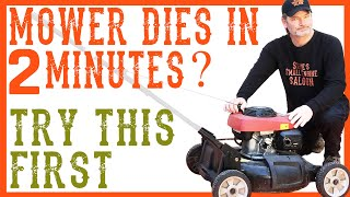 How To Fix a Lawn Mower That Quits, Dies or Stalls After 2 Minutes, Video