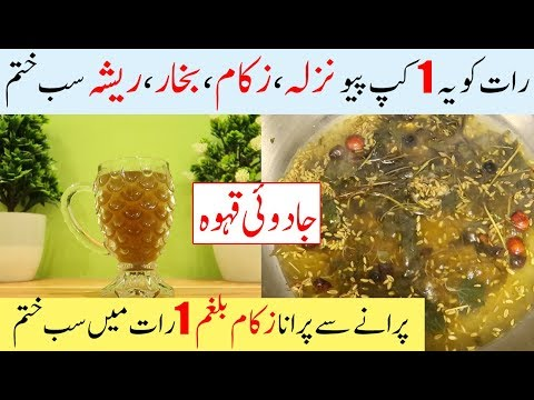 DIY Natural Cough Cold And Flu Remedies - Nazla Zukam Khansi ka ilaj In Urdu    In Hindi