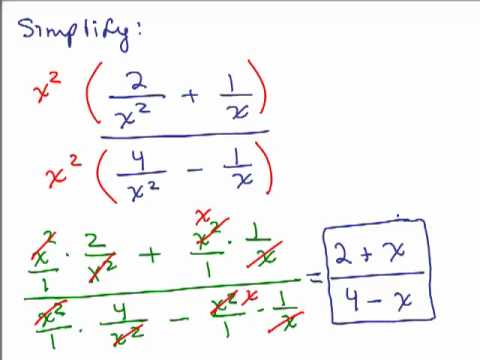 Simplify Complex Fractions 2 - YouTube