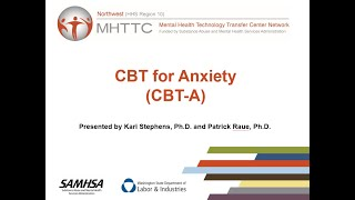 Brief Behavioral Skills: CBT for Anxiety (CBT-A)