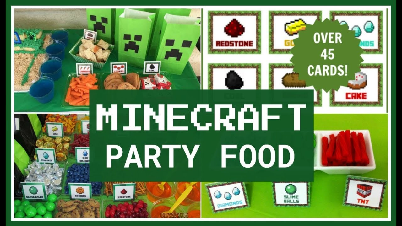 Best Minecraft Party Food Ideas Youtube