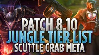 Tarzaned | PATCH 8.10 JUNGLE TIER LIST | TOP TIER JUNGLERS IN THE SCUTTLE CRAB META!