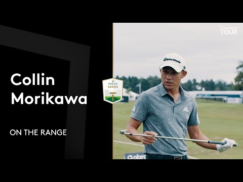 Collin Morikawa full range session in Scotland with Toptracer
