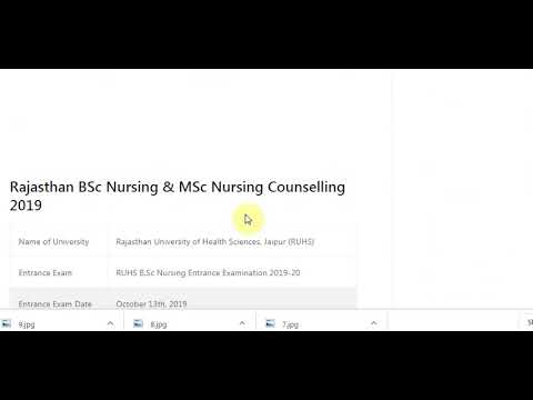 RUHS BSc Nursing Counselling 2019 Date Seat Allotment Result, Merit List