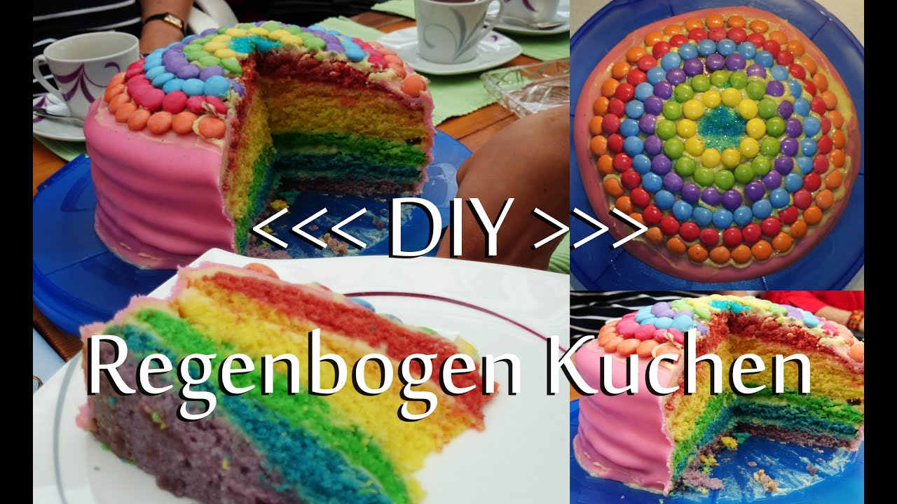 diy regenbogenkuchen rezept youtube. Black Bedroom Furniture Sets. Home Design Ideas