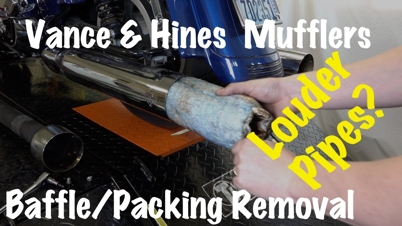 how to remove baffles packing from vance hines pipes mufflers louder motorcycle pipes