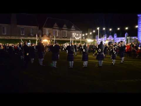 Pipe Band Plays St Andrew's Day Ceilidh in St Andrews