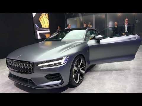 [4k] Volvo Polestar 1 concept INTERIOR and EXTERIOR at Geneva International Motor Show 2018