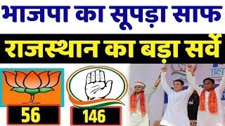 बड़ा सर्वे : भाजपा को जबर्दस्त झटका । rajasthan election opinion poll . Loksabha election