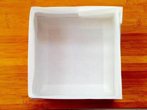 How to line a square cake tin with greaseproof paper