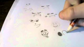 How to draw smiley faces