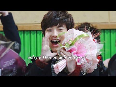 Chanyeol đi dự lễ tốt nghiệp của Sehun ♥