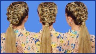 видео Создаем модную косу из 5 прядей