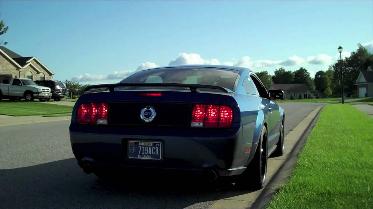 mustang driving away youtube