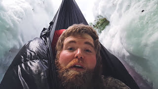 FIRST EVER HAMMOCK SNOW CAVE - BEST WINTER SETUP (Possible Giveaway)