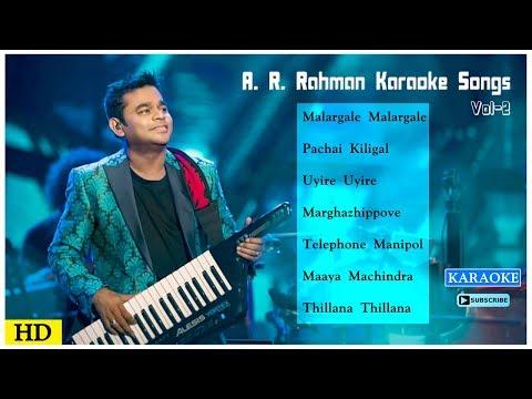 AR Rahman Karaoke Songs | Vol 2 | Tamil Karaoke Songs | Best of AR Rahman Karaoke | Music Master