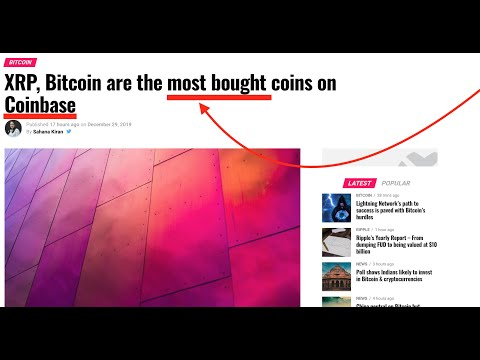 BREAKING NEWS! BTC and XRP the MOST bought on COINBASE. Proof Of Keys and Crypto a RARE Investment.