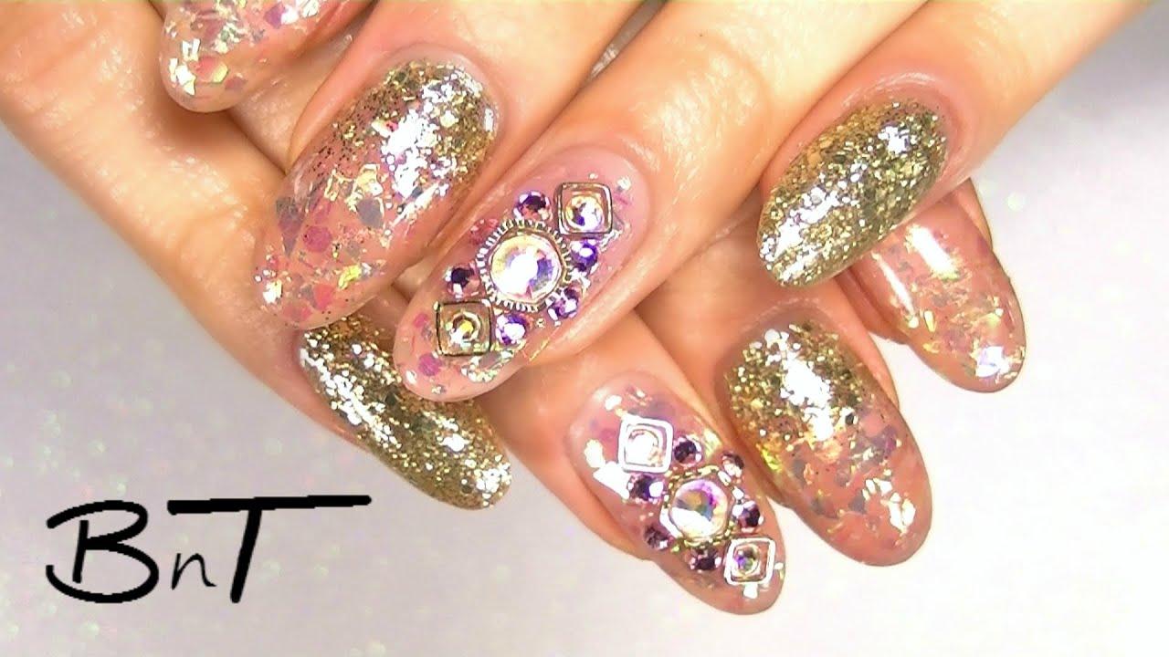 acrylic nails - broken glass nail