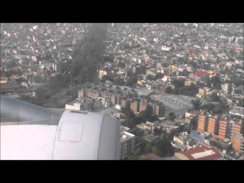 American Airlines Flight 503 Landing In Mexico City December 19, 2015.