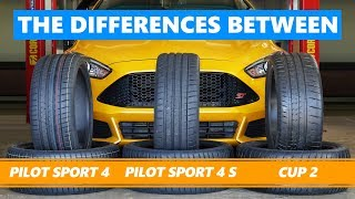 Michelin Pilot Sport 4 vs Pilot Sport 4 S vs Cup 2. The differences between Michelin sports tyres.