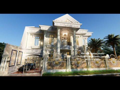 Desain Rumah Eropa Klasik Mewah 2 Lantai - YouTube