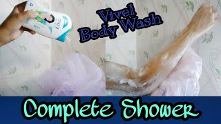 How to Use : Vivel Body Wash with Loofah // for Complete Shower - Beauty Highlighting