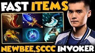Beautiful Invoker Plays By Newbee.Sccc vs His Captain Newbee.Faith Zeus - Dota 2 Invoker