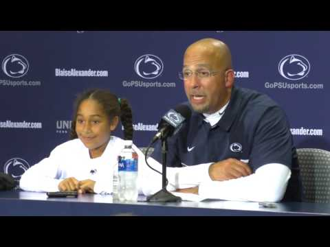 How will James Franklin celebrate Penn State's upset win?