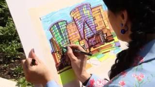 «Уроки рисования». Белгородская филармония маркерами (10.06.2016)