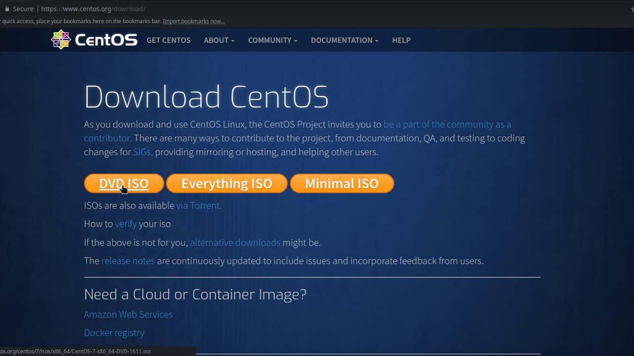 """How to install and configure centos using the """"minimal iso"""" image."""