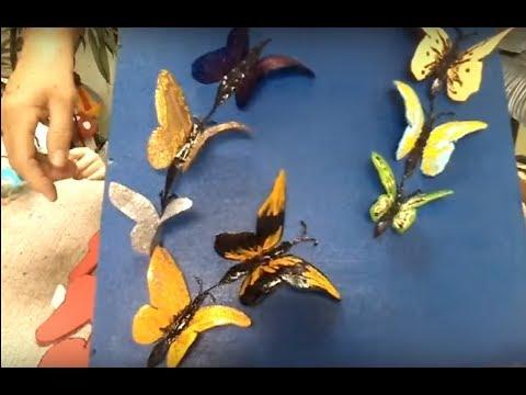 Trio De Borboletas Em Garrafa Pet Youtube