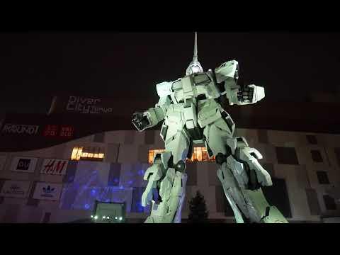Gundam Unicorn  in Odaiba, Japan 2017