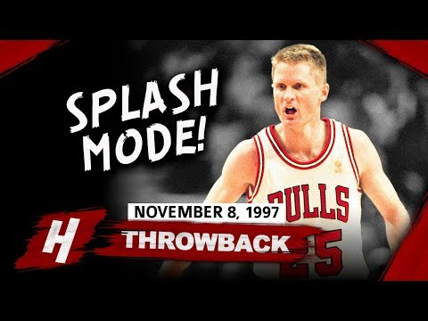 Throwback: Steve Kerr Full Highlights Bulls vs Nets 1997.11.08 - 21 Points off the Bench, 8-13 FGM!
