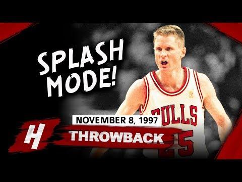76b002e7e5f Throwback  Steve Kerr Full Highlights Bulls vs Nets 1997.11.08 - 21 Points  off the Bench