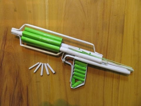 How to Make a Paper Gun that shoots 8 Bullets - GTa Weapon