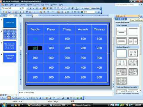 Jeopardy Powerpoint--Creating Hyperlinks - Youtube